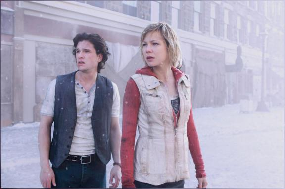 Jão Neve e senhora bochecha. Não conseguem carregar o filme nas costas.