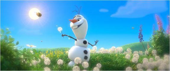 O boneco de neve dublado pelo Fábio Porchat.