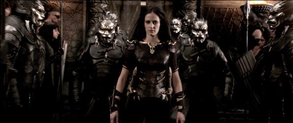 Artemisia e seu exército persa.