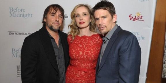 Linklater com os atores na divulgação do último filme.