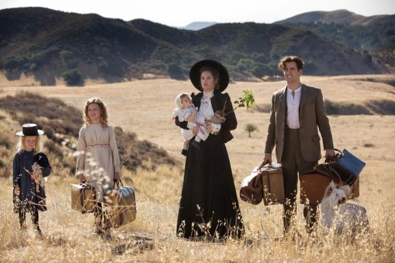 A família de Travers na sua infância.