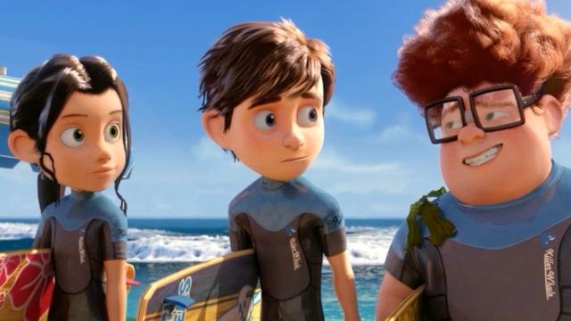 trio principal na praia
