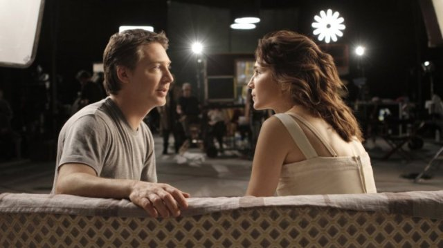 o casal no set