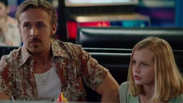 gosling com a filha