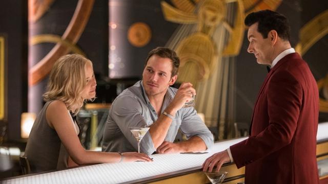 Chris Pratt; Jennifer Lawrence; Michael Sheen