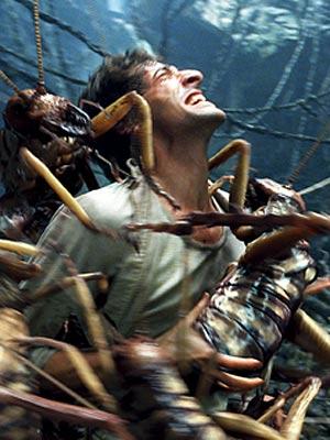 Adrien Brody com os gafanhotos