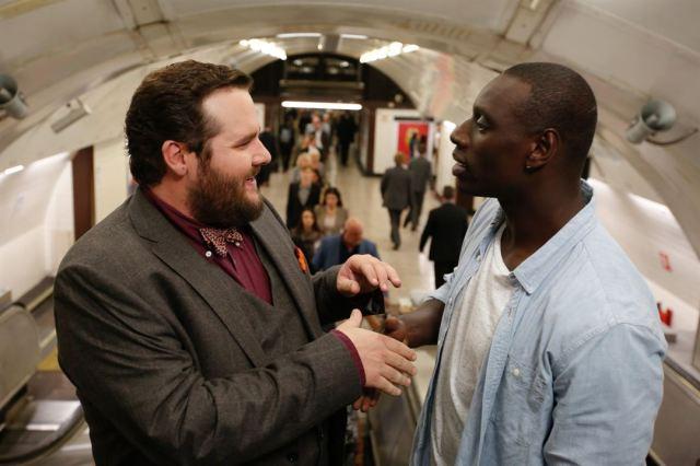 com o produtor no metrô