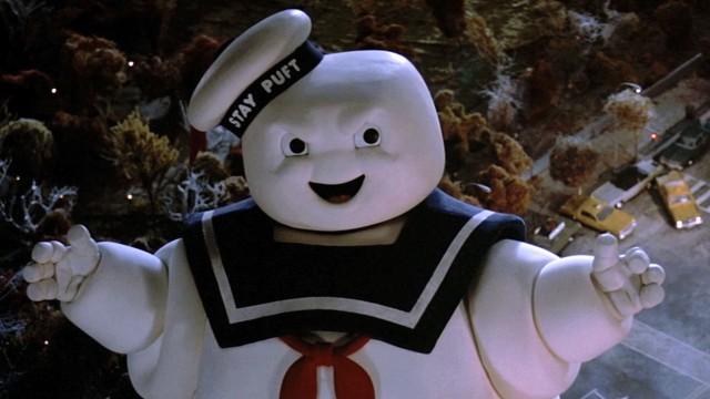 homem gigante de marshmallow
