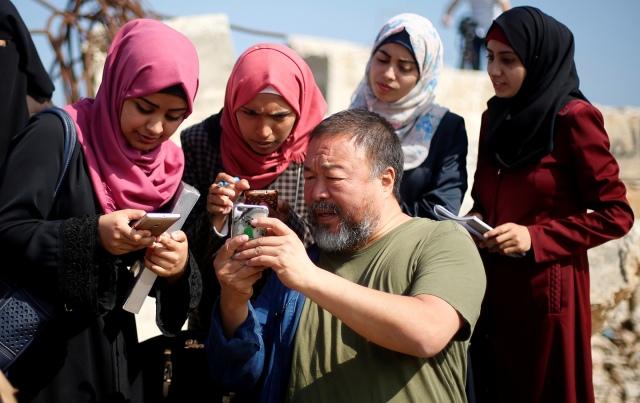 Ai Weiwei na faixa de Gaza