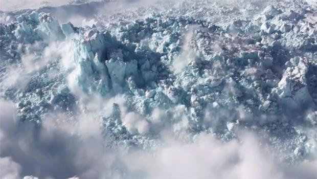 geleira implodindo