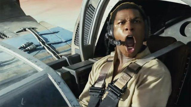 Finn comemora em Speeder