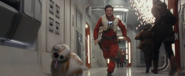 Poe corre junto com BB-8