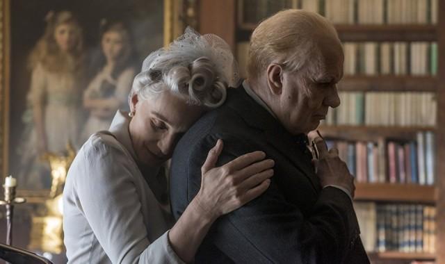 Churchill com esposa