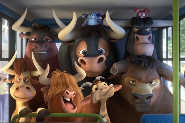 touros em um ônibus