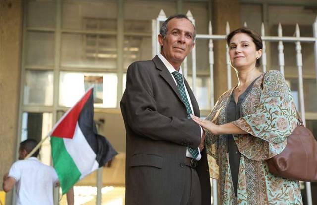 Yasser com a esposa